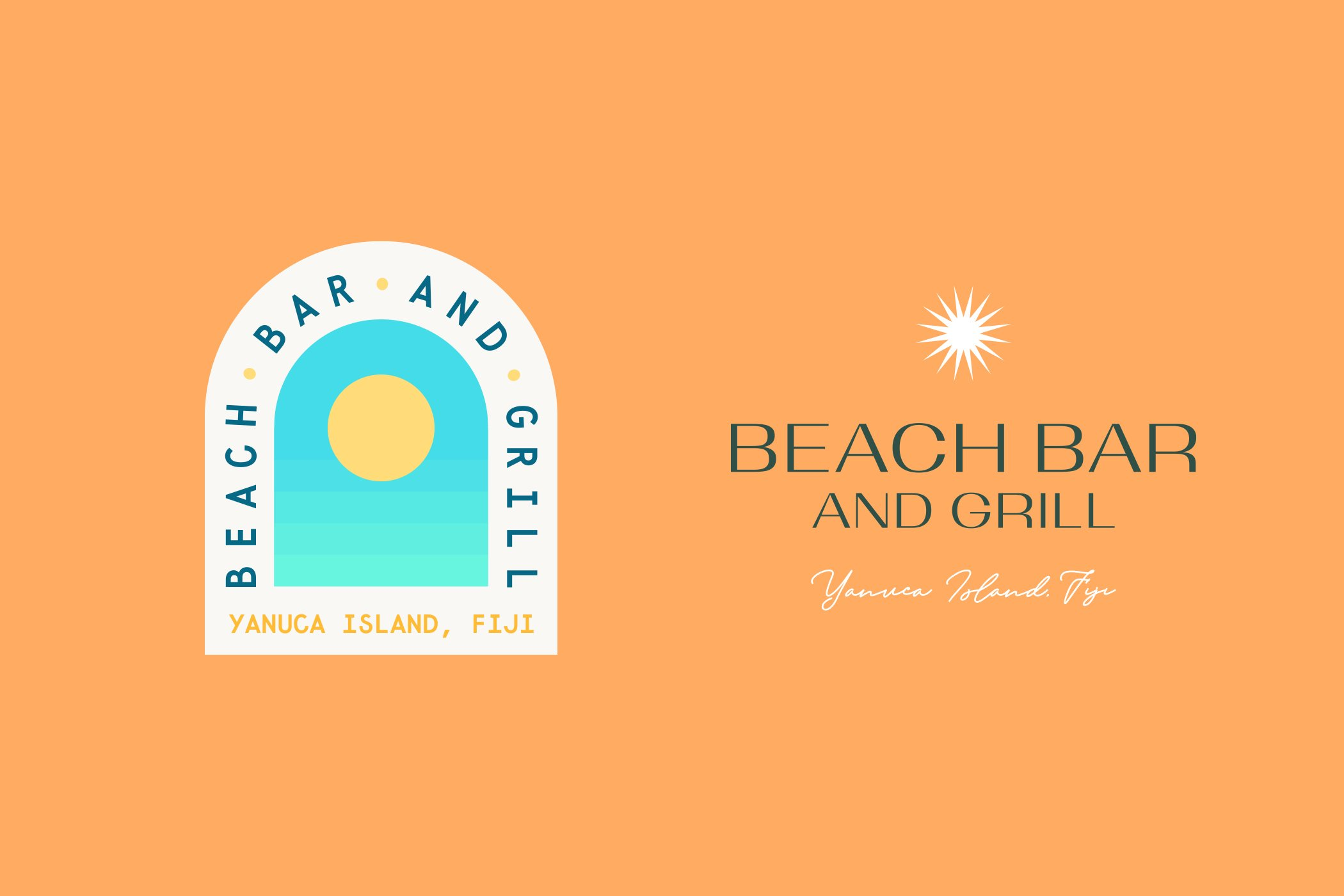 Beach Bar and Grill - Alternative Logo options